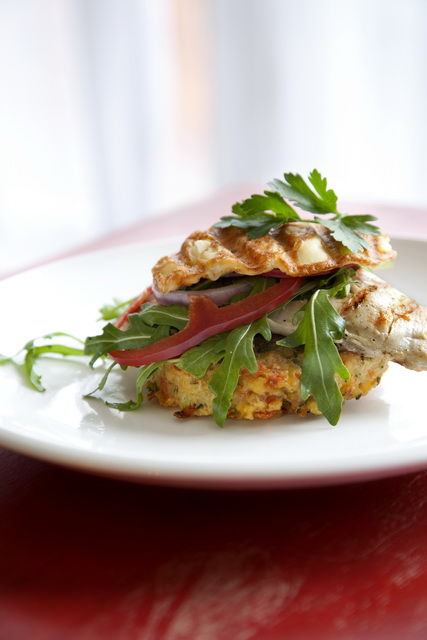 barbequed Chicken Haloumi Rosti